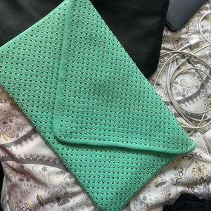 Mint green clutch purse
